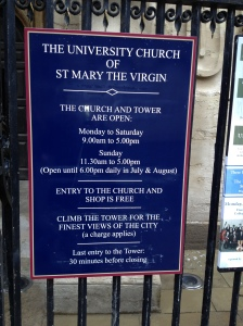 st Mary Oxford sign