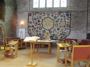 Sanctuary area at the Priory