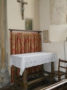 Side altar in nave