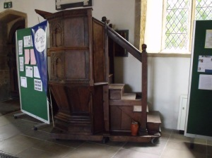 Pulpit on wheels