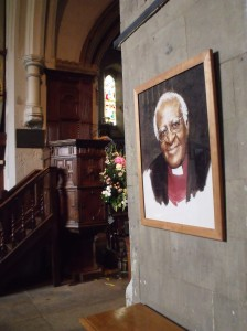 Picture of Desmon Tutu who was a curate here in the 1960's